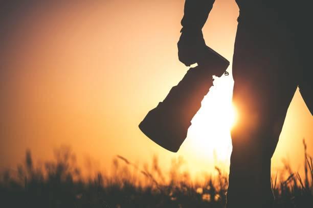 Outdoor Wildlife Photographer stock photo