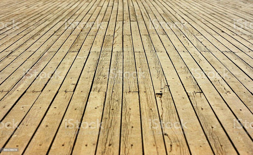 Pavimento in legno all'aperto foto stock royalty-free