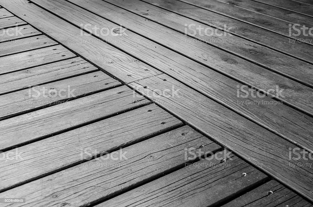 Outdoor wooden deck royalty-free stock photo