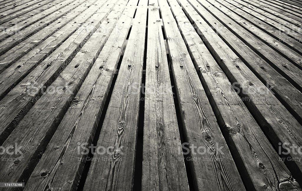 Outdoor Wooden Floor stock photo