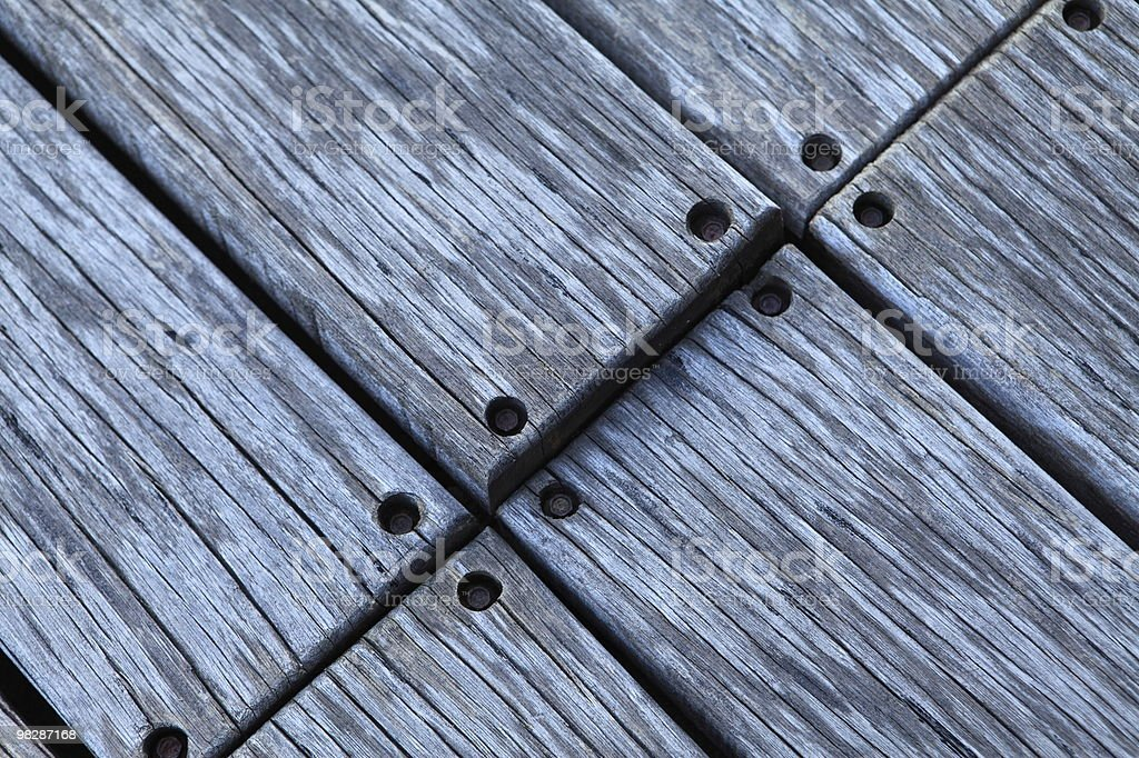 Outdoor wooden floor royalty-free stock photo