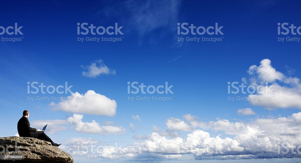 Outdoor working royalty-free stock photo