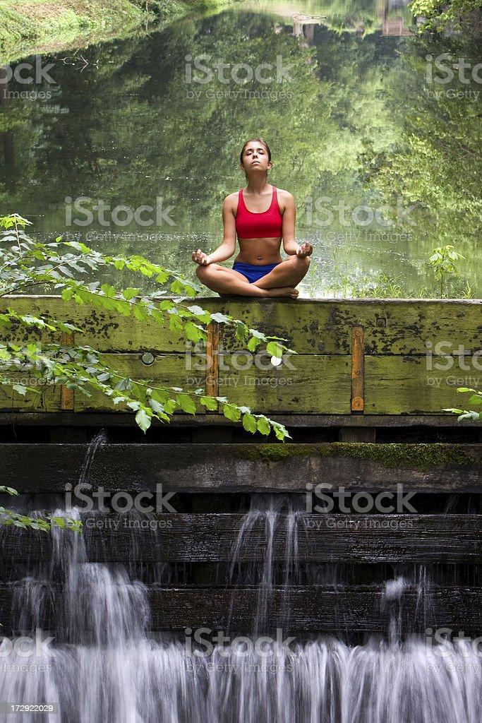 Outdoor Yoga royalty-free stock photo