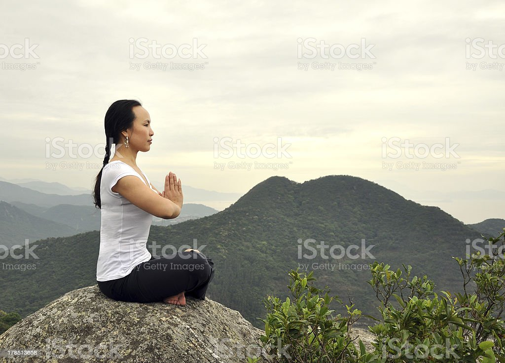 Outdoor Yoga royalty-free stock photo