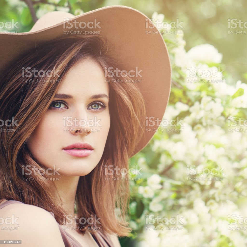 Outdoors Atmospheric Lifestyle Portrait Of Beautiful Natural