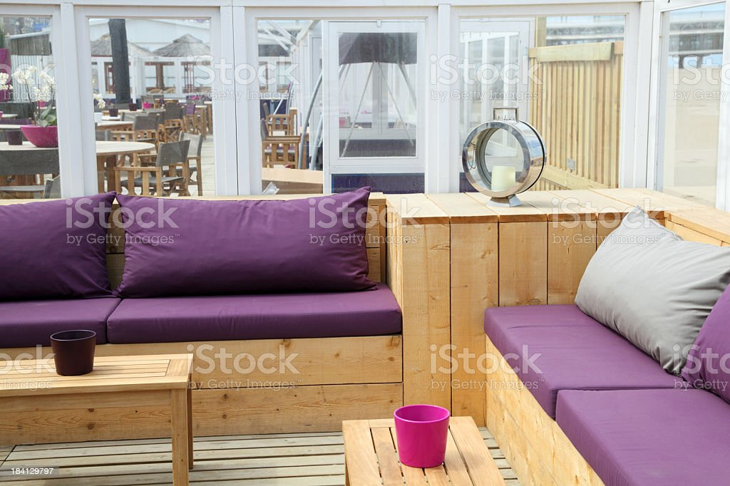 Sensational Outdoors Beach Cafe Furniture Sofa Tables Stock Photo Machost Co Dining Chair Design Ideas Machostcouk