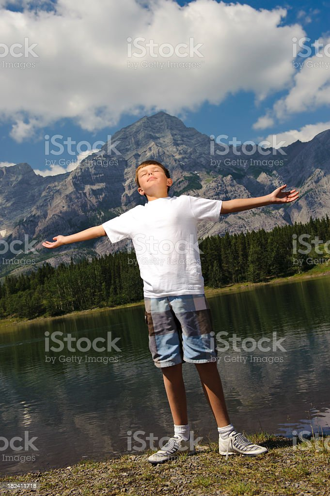 Outdoors Boy stock photo