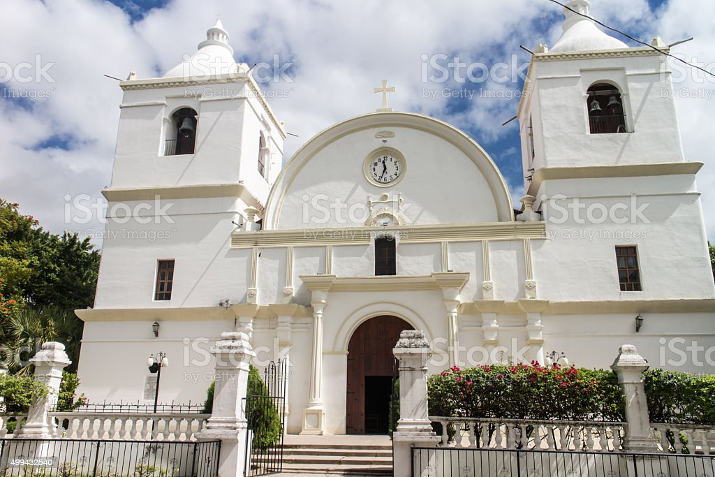 outdoors church view from Ocotal, Nicaragua stock photo