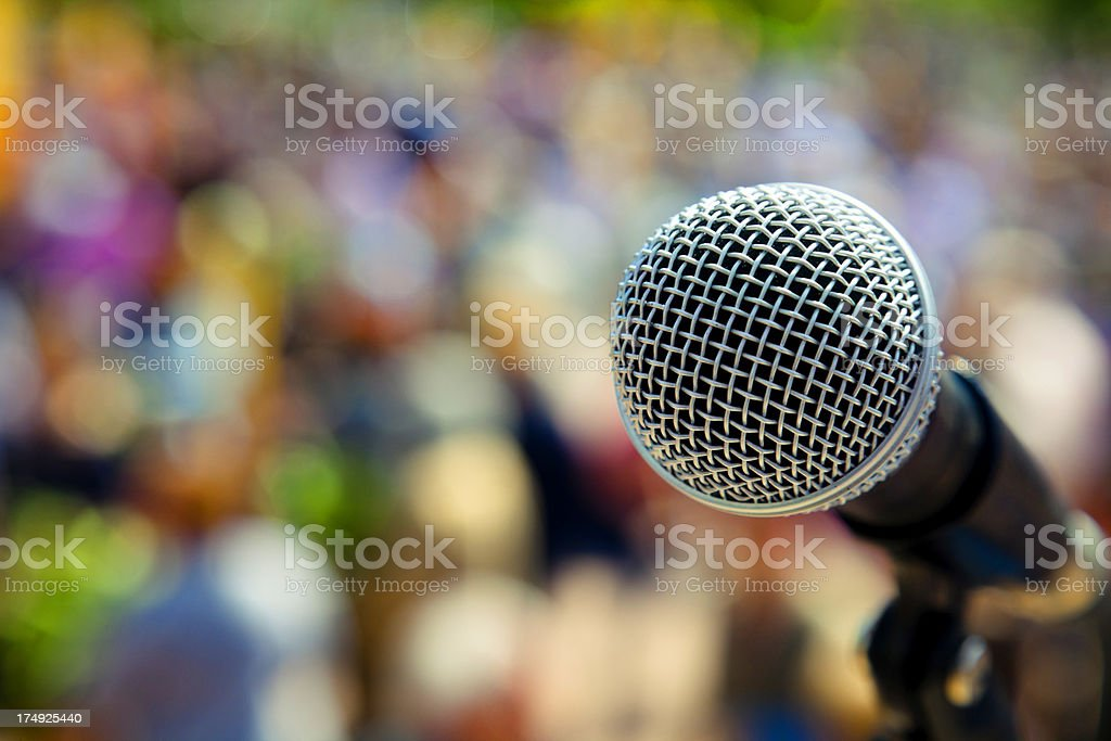 Outdoors conceppt microphone royalty-free stock photo