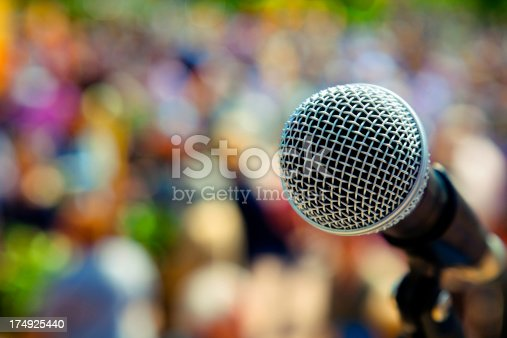 istock Outdoors conceppt microphone 174925440