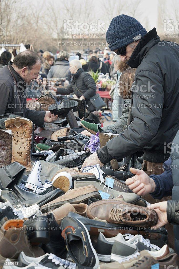 Outdoors flea market stock photo