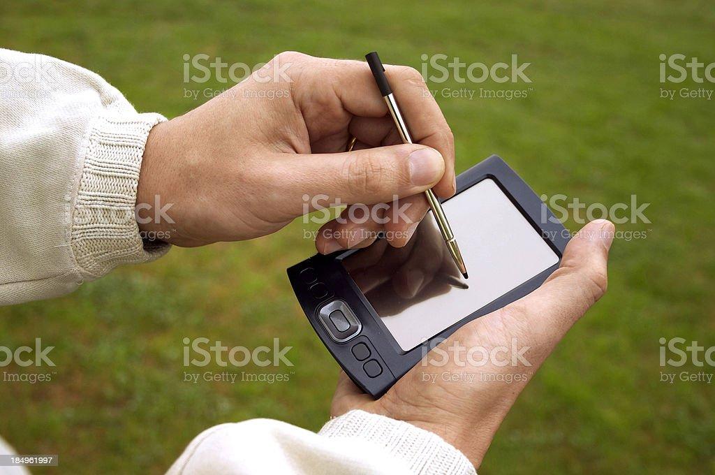 PDA outdoors royalty-free stock photo