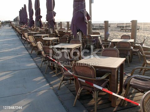 Restaurant Chairs Empty View In The Netherlands Europe