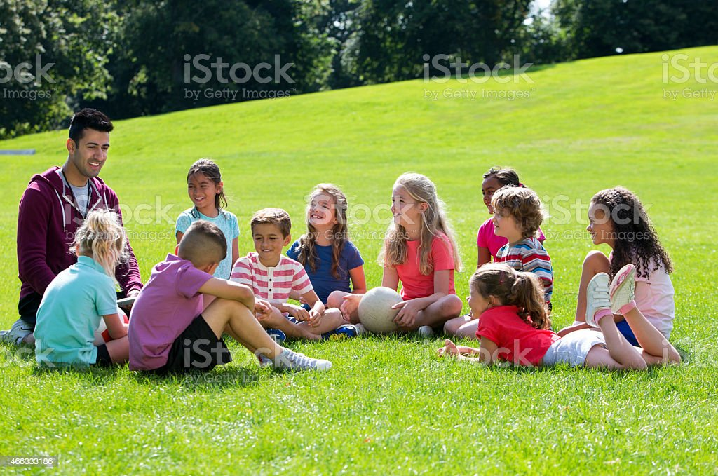 Outdoors Sports Lesson stock photo