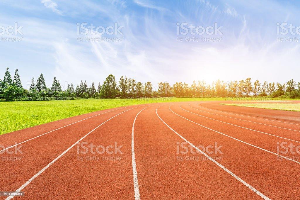 Outdoors stadium runway scenery stock photo