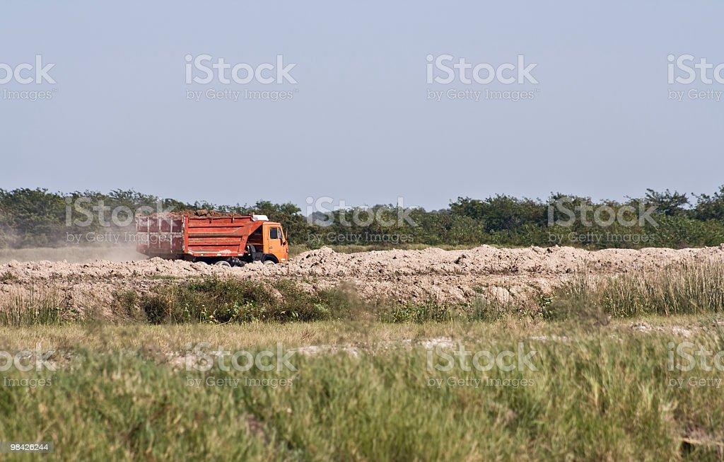 Outdoors truck working royalty-free stock photo