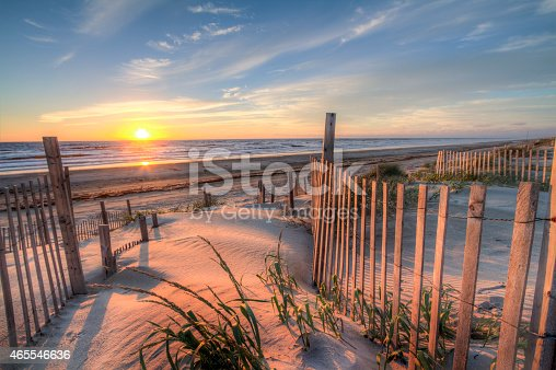 istock Outer Banks Beach at Sunrise from the Sand Dunes 465546636