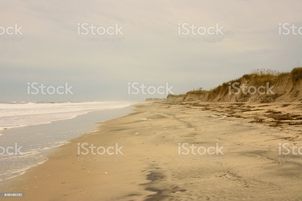 Outer Banks Beach in Winter stock photo