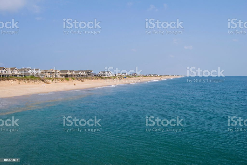 Outer Banks Coastline stock photo