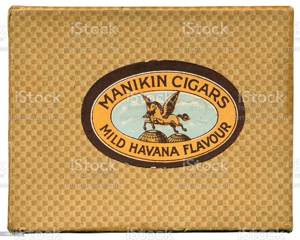 Outer box for Manikin cigars playing cards 1930 stock photo