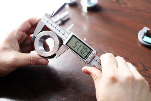 outer diameter of weldolet measuring with the digital vernier caliper micrometer. a micrometer, sometimes known as a micrometer screw gauge, is a device incorporating a calibrated screw. - diameter stock pictures, royalty-free photos & images