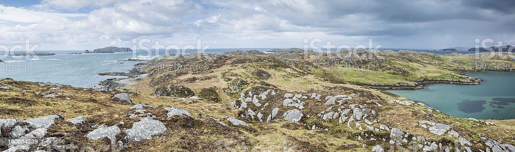Outer Hebrides Coast Panorama royalty-free stock photo