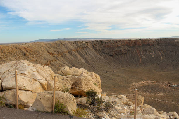 Outer rim of Meteor Crater National Landmark stock photo