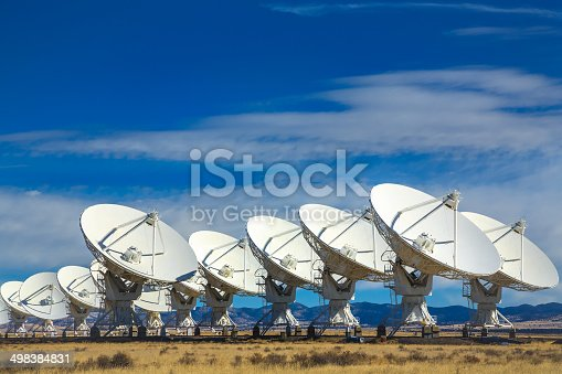 VLA - Very Large Array radio telescope operated by the NRAO National Radio Astronomical Observatory, near Socorro, New Mexico, USA