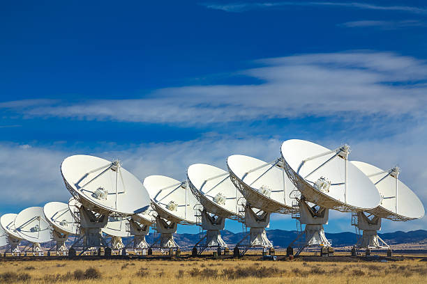 vla outer space radio telescope array, socorro, new mexico - space and astronomy stock photos and pictures