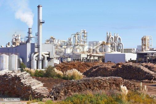 Paper Factory agaist blue sky