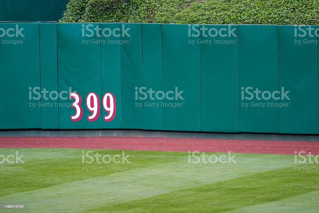 Outfield Wall stock photo