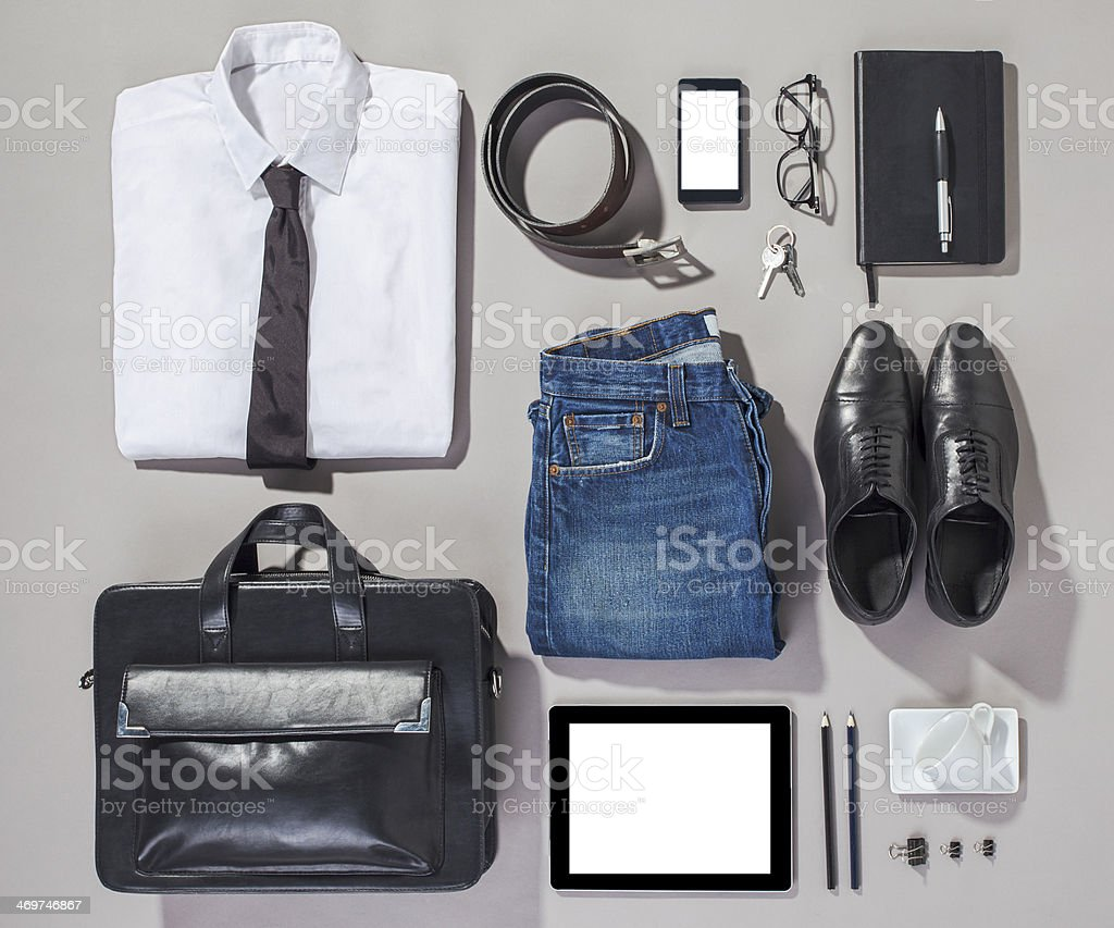 Outfit of business man. stock photo