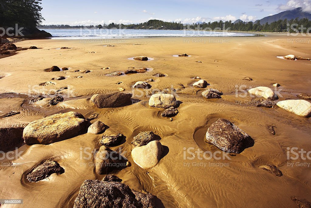 Outflow at ocean coast royalty-free stock photo