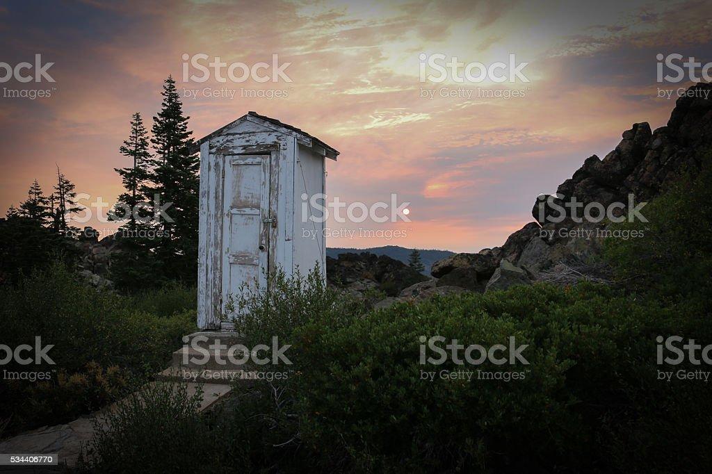 Outhouse 2 stock photo
