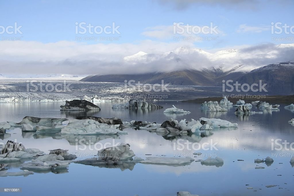 Outlet glacier lake royalty-free stock photo