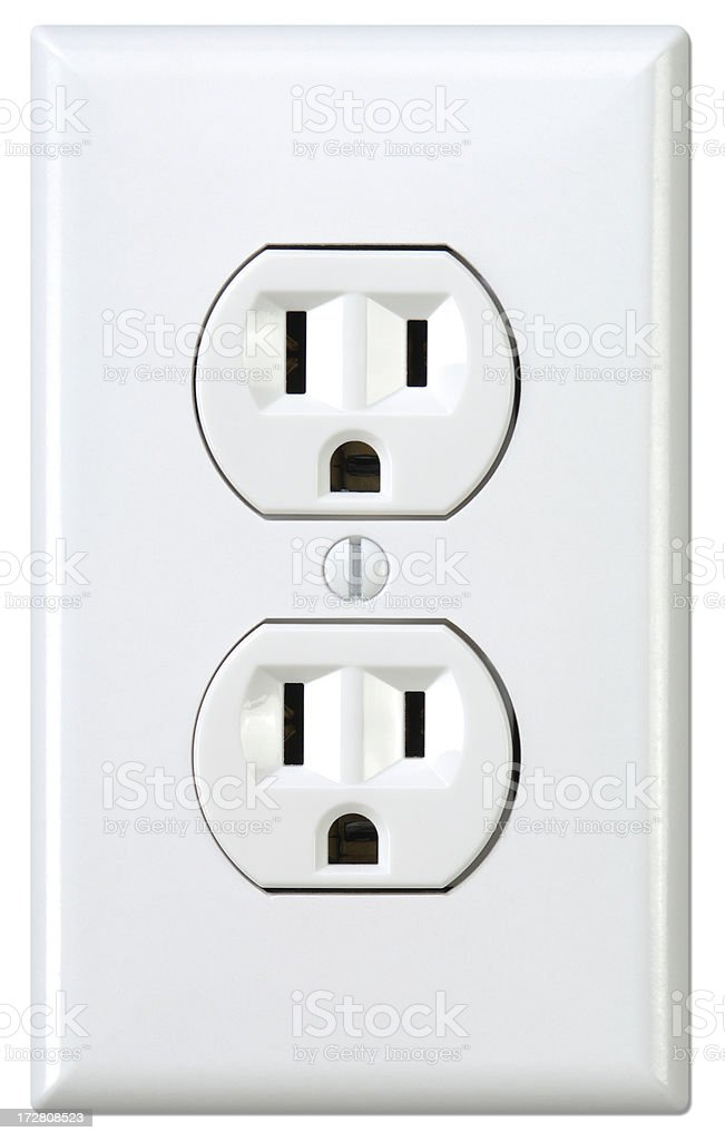 Outlet with Path royalty-free stock photo