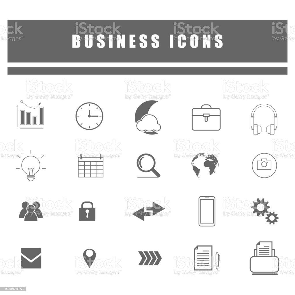 ícones de estrutura de tópicos de negócios e rede social on-line - foto de acervo