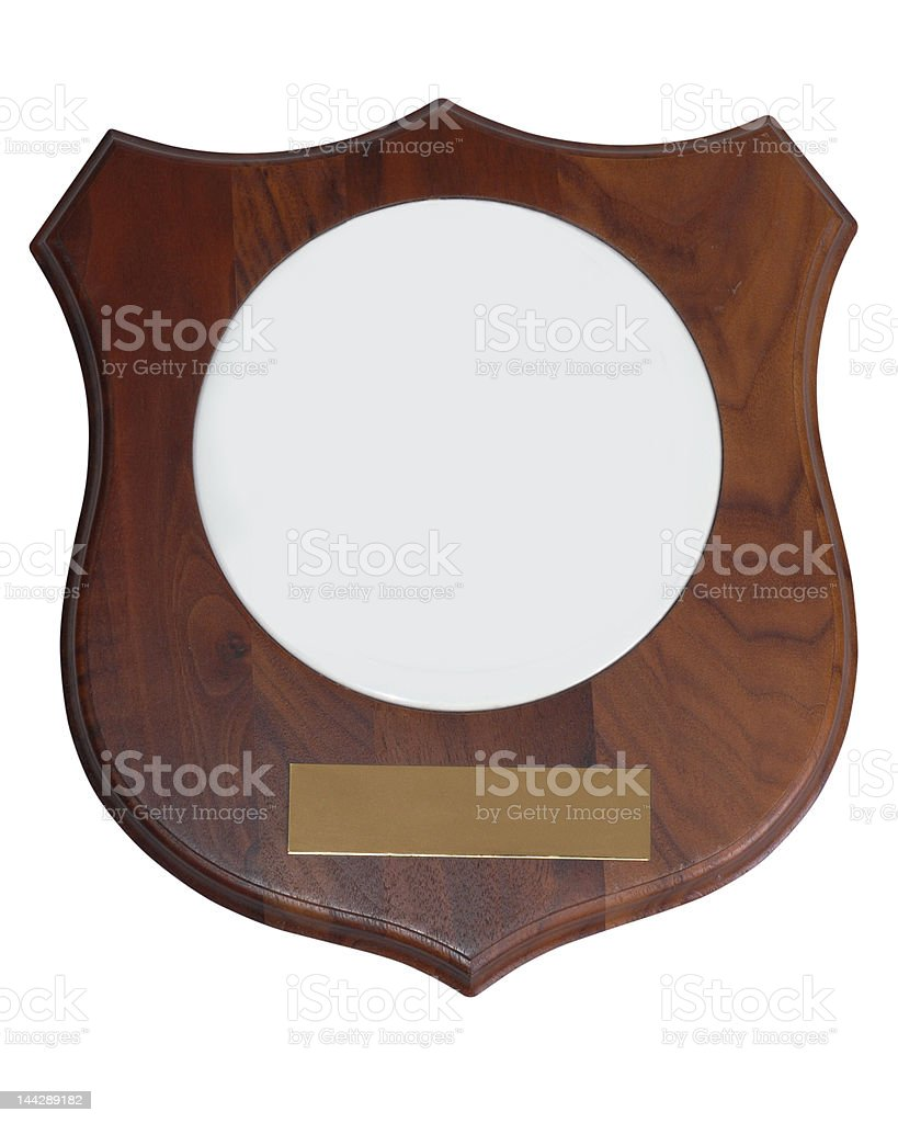 outlined, award plaque stock photo