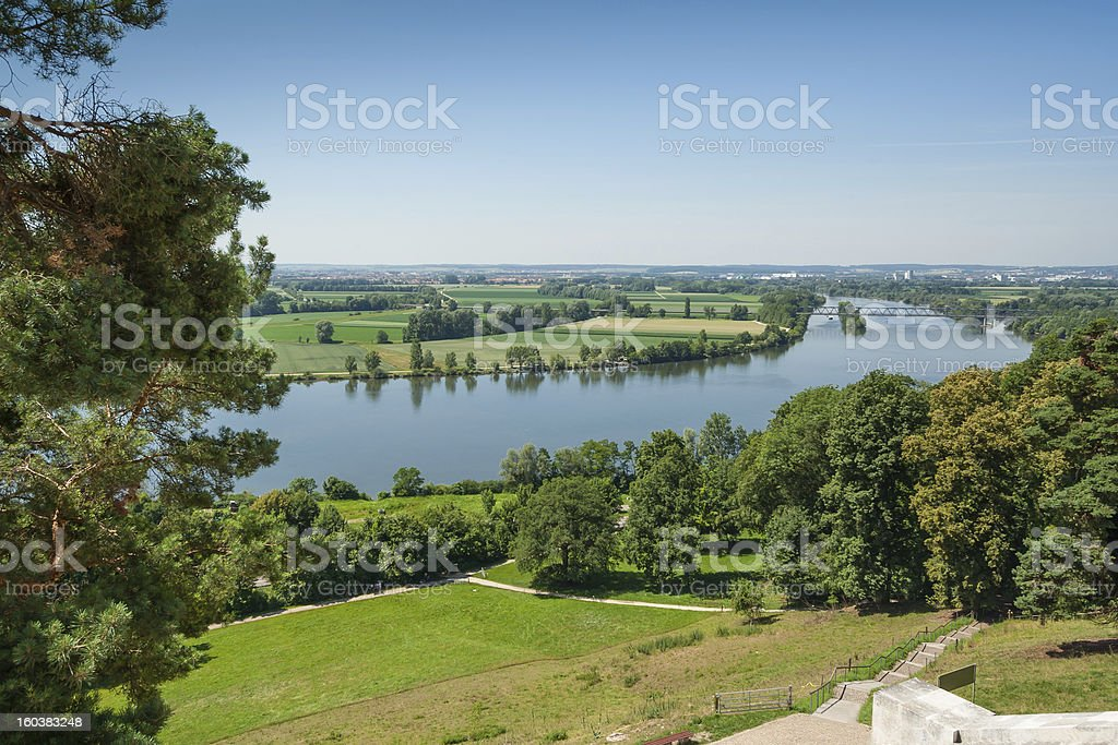 Outlook from Walhalla at the river Donau royalty-free stock photo