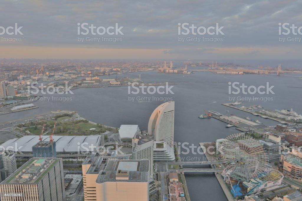 橫濱地標塔的觀圖像檔