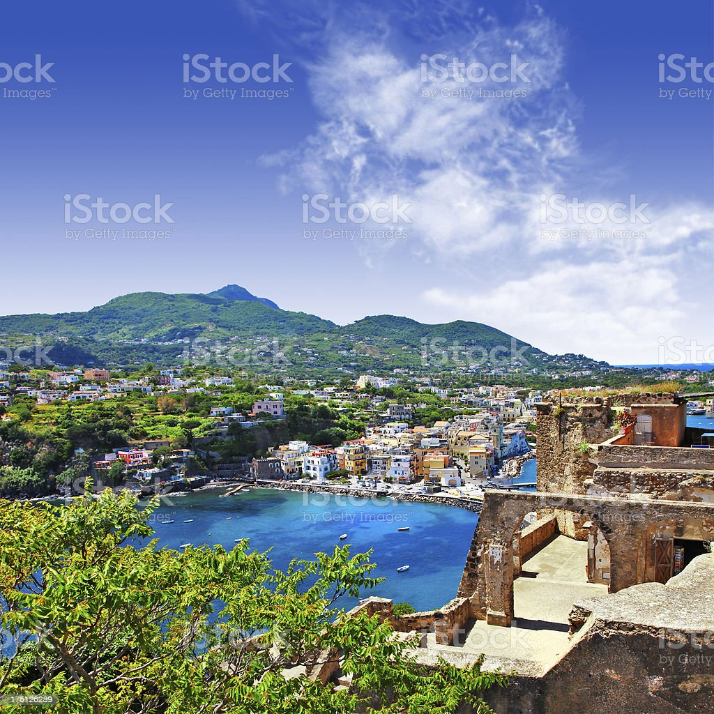 Outlook over Ischia, Italy in the daytime stock photo