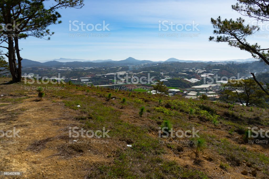 outlook over Vietnam mountains royalty-free stock photo