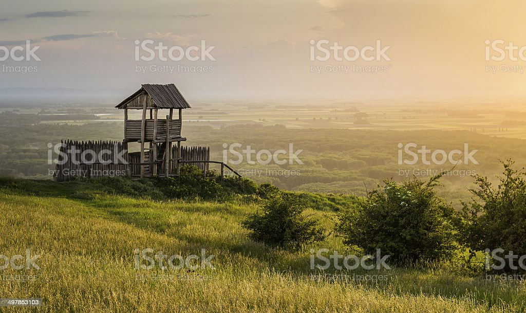 Outlook Tower on the Hill stock photo