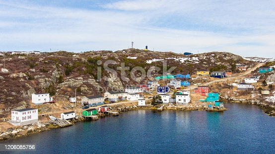 A tiny outport community in Newfoundland known as Rose Blanche. Beautiful drone photo.