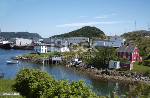 This is a picture of a small outport community in Burin Newfoundland