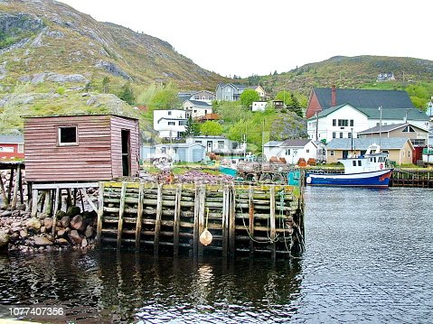 Outport Village in Newfoundland, Canada