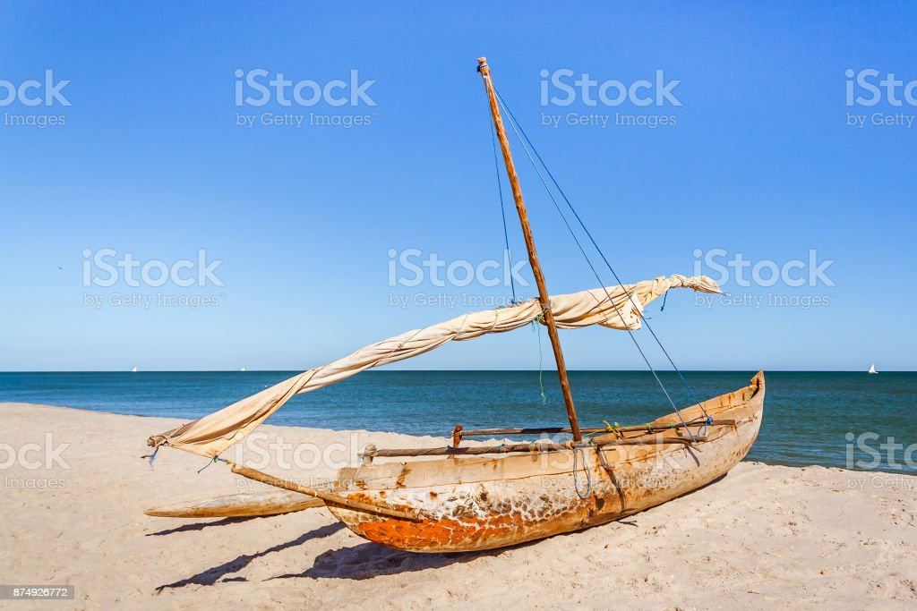 Outrigger canoe stock photo