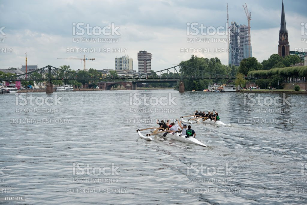 Outrigger event, Frankfurt, Skyline, Germany royalty-free stock photo