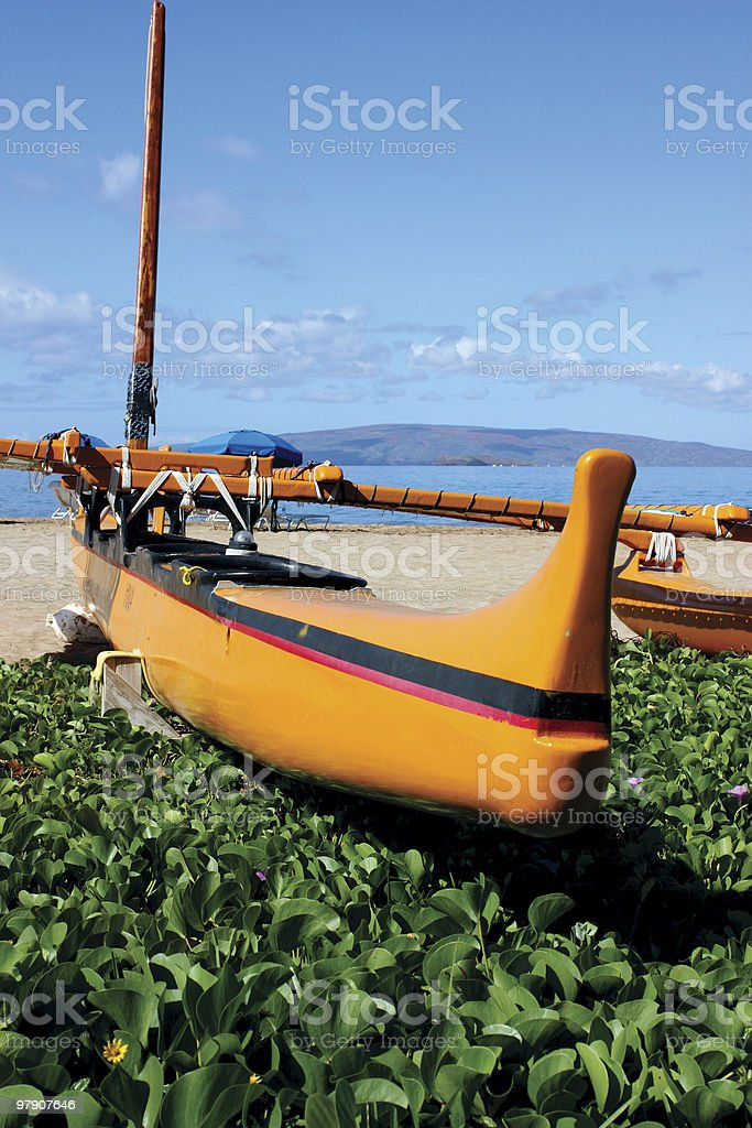 Outrigger in Hawaii royalty-free stock photo