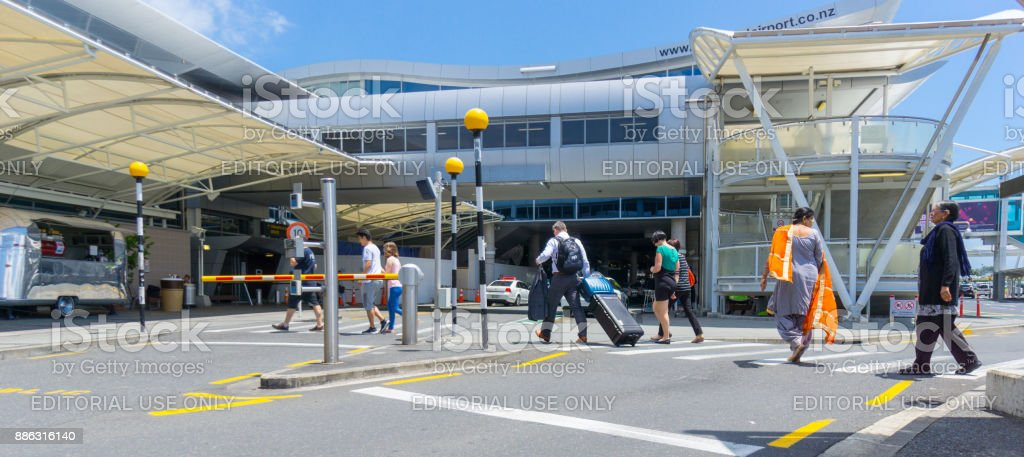 Outside Auckland Airport. stock photo